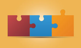 Connected jigsaw, puzzle. With blank space for text. Can be used as part of infographic Royalty Free Stock Photos