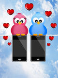 Connected love Royalty Free Stock Photos