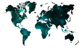 Connected map over white royalty free stock images