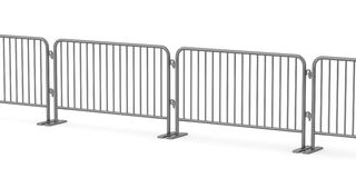 Connected metal barrier Royalty Free Stock Image