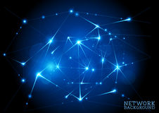 Connected Network Background Stock Photos