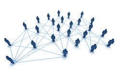 Connected people Stock Images