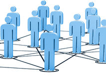 Connected people Royalty Free Stock Photo