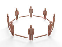 Connected People. 3D rendered illustration Stock Photo
