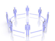 Connected People. 3D rendered illustration Royalty Free Stock Images