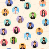 Connected people seamless pattern Stock Image