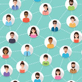Connected people seamless pattern Royalty Free Stock Photos