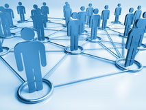 Connected people symbols Stock Image