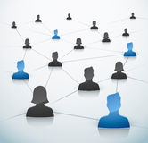 Connected people Royalty Free Stock Image