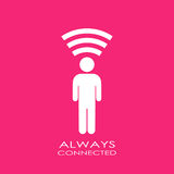 Always connected poster. Vector illustration Royalty Free Stock Photos