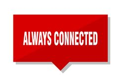Always connected price tag. Always connected red square price tag royalty free illustration