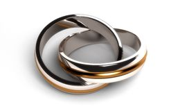 Connected rings. (High resulation Computer generated image Royalty Free Illustration
