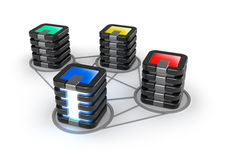 Connected Servers Farm Stock Photo