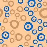 Connected spots pattern in warm milk color. Seamless Wallpaper Pattern. Warm milk Color. Connected spots pattern in color. Seamless Wallpaper Pattern. Lines Stock Image