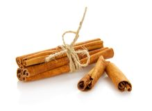 Connected sticks of cinnamon Royalty Free Stock Images