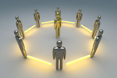 Connected Team. 3D rendered Illustration. Power of Teamwork Stock Images