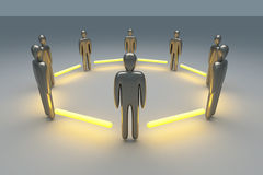 Connected Team. 3D rendered Illustration. Power of Teamwork Stock Image