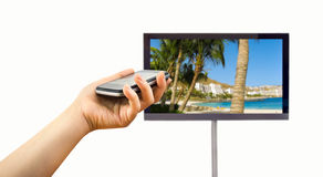 Connected to a television Stock Photos