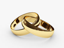 Connected wedding rings Royalty Free Stock Images