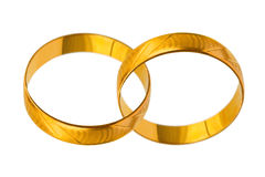 Connected wedding rings Stock Photo