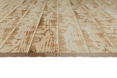 Connected wooden grooved boards. With a beautiful light-dark pattern stock photos