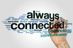 Always connected word cloud Stock Photos