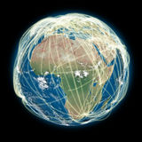 Connected world Africa view Royalty Free Stock Images