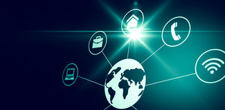 Connected world Stock Images