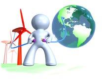 Connecter le monde dans l'énergie renouvelable Photos stock