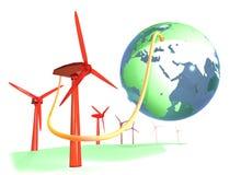 Connecter le monde dans l'énergie renouvelable Photos libres de droits