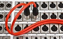 Connecteur d'acoustique de Canon Photographie stock