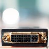 Connecteur d'entrée de DVI Photos stock
