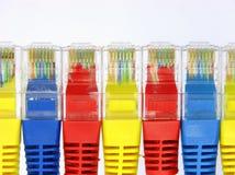 Connecteur d'isolement rj45 sur le blanc Photo stock