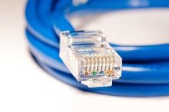 Connecteur de câble de réseau image stock