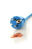 Connecteur de l'électricité. Image libre de droits