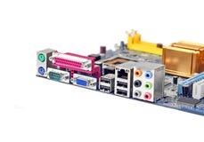 Connecteur de la carte mère d'ordinateur, DOF Photos stock