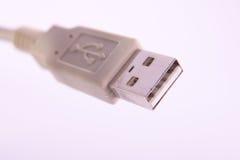 Connecteur de prise de câble d'USB Photographie stock libre de droits