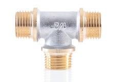 connecteur de tuyau de T-forme d'isolement image stock