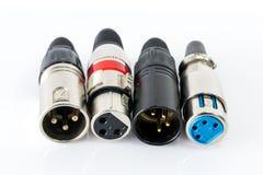 Connecteur de XLR Images libres de droits