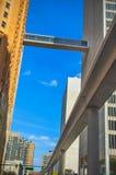 Connecteur Detroit du centre de Skywalk image libre de droits