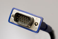 Connecteur du VGA sur le blanc images libres de droits