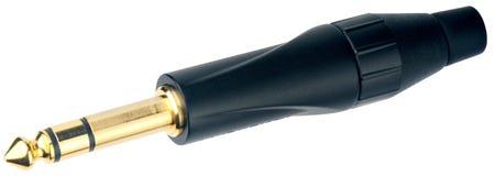 connecteur sonore d'isolement Photo stock