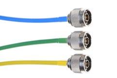 Connecteurs coaxiaux Photographie stock