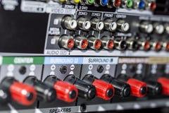 Connecteurs d'amplificateur Photos libres de droits
