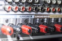 Connecteurs d'amplificateur Photographie stock