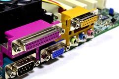 Connecteurs de l'électronique et composants d'interface image stock