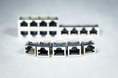 Connecteurs de transmission de données Photographie stock
