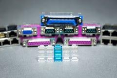 Connecteurs de transmission de données Images stock