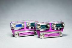 Connecteurs de transmission de données Image stock