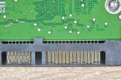 Connecteurs et carte électronique électronique Images stock
